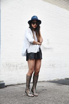 Serena Goh of the Spicy Stiletto in her Estate Gladiator Sandals