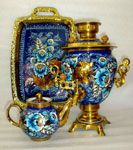 """Gzhel & Gold"" Samovar Set"