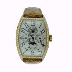 Franck Muller Cintree Curvex Automatic 18K Rose Gold Watch 5850 QP D Authentic #FranckMuller #luxurywatch