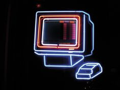 PC neon Neon Words, Neon Logo, Neon Lighting, Vaporwave, Graffiti, Glow, Neon Signs, Lights, Office Inspo