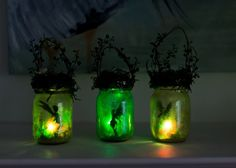 These adorable fairy lanterns are not only easy to make but look adorable in a garden or used as a nigh light. They will spark your child's imagination.