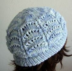 Panda Silk DK Scallop Lace Hat & Fingerless Gloves - free knit patterns in bamboo blend yarn - Crystal Palace Yarns