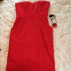 ☀️1day SALE☀️BCBG Sweetheart Red Dress New with tags not attached! Also includes straps and built in bra with non-slip lining! BCBGMaxAzria Dresses