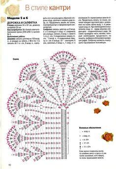 Kira crochet: Crocheted scheme no. Crochet Tablecloth Pattern, Crochet Doily Diagram, Crochet Doily Patterns, Crochet Chart, Filet Crochet, Crochet Motif, Crochet Doilies, Crochet Stitches, Crochet Table Runner