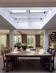 great way to harbor natural light in the dining room