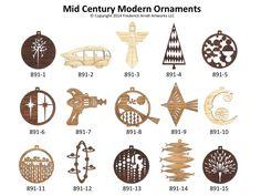Mid Century Modern Ornaments