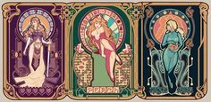 Nintendo (Art) Nouveau ~ Megan Lara sci-fi/video game/fantasy art