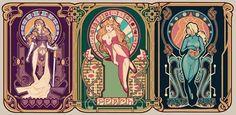 Nintendo (Art) Nouveau ~ Megan Lara sci-fi/video game/fantasy art