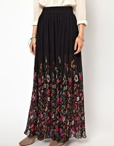 maxi skirt and blouse