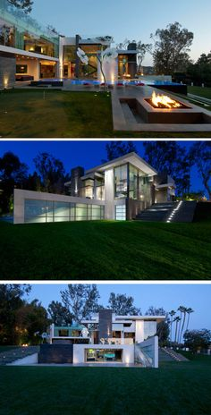 Whipple Russell Architects have designed the Summit House, a home for a family in Beverly Hills, California.