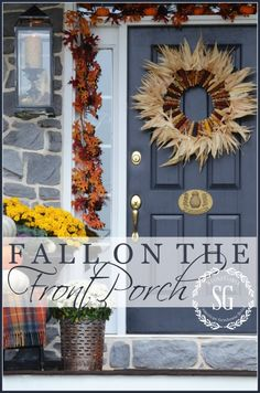 FALL ON THE FRONT PORCH Lots of inspiration and ideas for creating a one-of-a-kind fall porch-stonegableblog.com