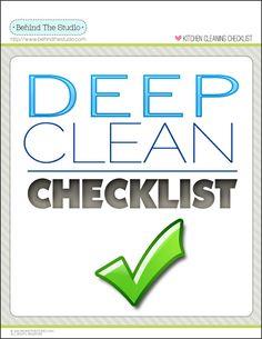 Deep Cleaning Kitchen Checklist