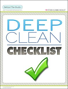 Deep Cleaning Kitchen Checklist