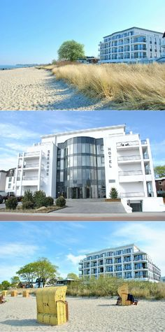 Lifestyle meets warm atmosphere - SeeHuus impresses not only with its high-quality equipment, but also with its fantastic location directly on the sea. Ocean Colors, Colours, Nice Place, Design Hotel, Baltic Sea, Marina Bay Sands, Multi Story Building, Germany, Beach