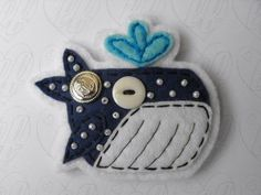 Mr Sailor Whale Felt Brooch by LizzybethsFelties on Etsy | Shop | Kaboodle