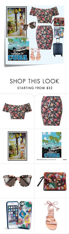 """""""pack and go : Cuba"""" by nendeayesika ❤ liked on Polyvore featuring Post-It, Miss Selfridge, Gentle Monster, Vera Bradley and Ancient Greek Sandals"""