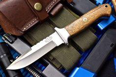 CFK USA Custom Handmade 440C Stainless Hunting Fighting Goncalo Alves Wood Knife | eBay