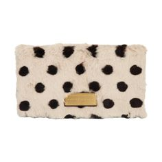 Marc by Marc Jacobs Too Hot to Party Polka-Dot Fur Fold-Over Clutch Sale up to 70% off at Barneyswarehouse.com