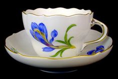 Crocus Blue Cup and Saucer