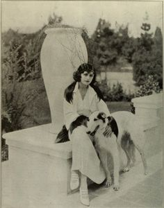 Pola Negri and her Russian wolfhound - You would enjoy her auto-biography; I did!