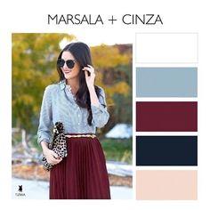 Marsala + Cinza: uma composição de cores para um look perfeito  #marsala #cinza #grey #mixdecores #colormix #colormixing #instacolor #instacolors #instacor #instacores #colorcomposition #colorcombination #colorcombinations #combinations #combination #inspiracao #inspiração #instatrend #trend #instastyle #instafashion #instalook #instamoda #fashionstyle #fashionista #fashionpost  Créditos na foto: tizkka_br