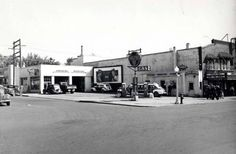 Service station, SE 5th & Main St, Moscow. After 1944. Current home of The Storm Cellar!