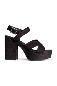 Sandálias com plataforma | H&M