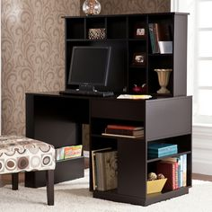 Adami Black Desk with Hutch Set | Overstock™ Shopping - Great Deals on Upton Home Desks