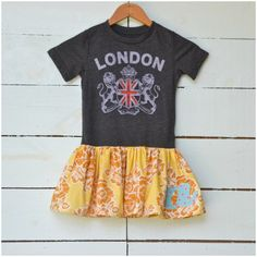 tshirt dress- love this idea for boys' old shirt if I ever have a girl someday.