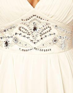 Lipsy Prom Dress with Embellished Waistband