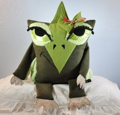 "Tara the Pteranodon, ""dinosaur"" pillow pet by RainieGarden on Etsy"