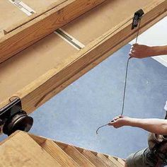 How to Install Pull-Down Attic Stairs & Create Your Own Attic Access Organize Your Storage Space | Attic ... pezcame.com