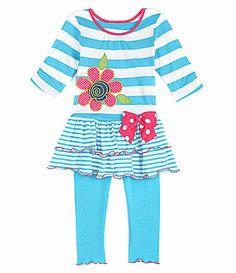e92576e3c2d7 Copper Key 2T6X Flower Tunic Top and Pants Set #Dillards Dillards, Tunic  Tops