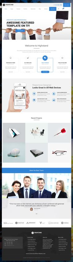 Highstand is simple, clean and Professional Responsive #WordPress theme for #multipurpose #websites. It has wonderful 30 Different Home Pages style and amazing features. Download Now!