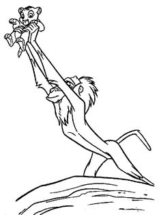 Disney Coloring Page Lion King 2 Printables for Scrapbooking