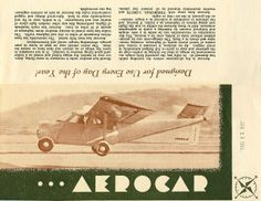 The outstanding Aerocar
