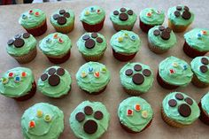 """We just had a LeapFrog #LeapReader MommyParties Event and I made these cute """"ABC"""" and My Pal Scout Cupcakes for it! Would be a cute idea for a LeapFrog or My Pal Scout Birthday Party!"""