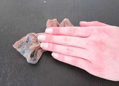 Use pantyhose to remove nail polish. No more wasteful feeling from using a ton of cotton balls!