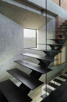 Железная лестница лофт