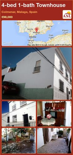 Townhouse for Sale in Colmenar, Malaga, Spain with 4 bedrooms, 1 bathroom - A Spanish Life Small Terrace, Malaga Spain, Enjoy The Sunshine, Murcia, Seville, Lisbon, Townhouse, Spanish, Bath