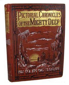 1885 VICTORIAN MARITIME SHIP SAIL OCEAN SEA EXPLORATION PIRATE SLAVE SHARK WRECK
