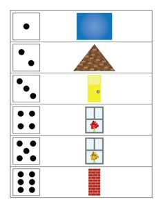 Roll a house - math game with free printable || Gift of Curiosity