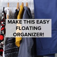 Floating Organizer // #organizer #cleaning #closet #hacks