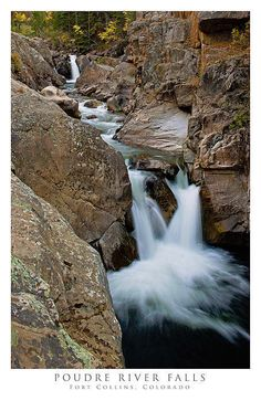 Poudre River Falls, Fort Collins. http://www.warrendiggles.com/posters-of-colorado/