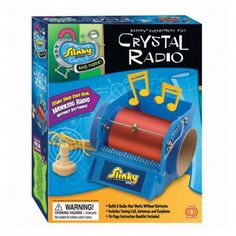 Crystal Radio Mini Lab - Remember the golden age of radio? MiniLabs' Crystal Radio Kit brings back the old memories and makes new ones. Build a working radio! Chemistry Basics, Radio Kit, Radio Wave, Science Kits, Science Projects, Learning Toys, Baby Clothes Shops, Baby Gear, Educational Toys
