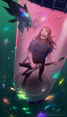 Metalocalypse - Underwater Friends by *Okha on deviantART