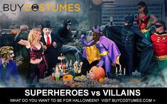 Superheroes vs. Villains Halloween Costumes - this would be so much fun!!!