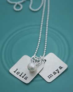 have this necklace--olivia with a clear crystal drop & stella with a blue crystal drop--LOVE IT!!!