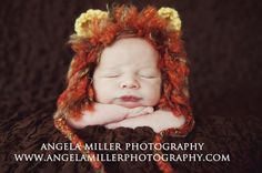 Newborn Baby Lion Cub Hat with Furry Mane by CraftyKsCrochet, $25.00