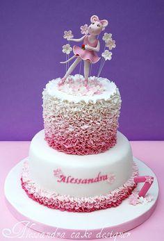 Angelina Ballerina Cake by Alessandra Cake Designer by babegotback Angelina Bailarina, Ballerina Birthday Parties, Ballerina Party, Birthday Cakes, Birthday Ideas, Ballerina Cakes, Cake Boss, Occasion Cakes, Girl Cakes